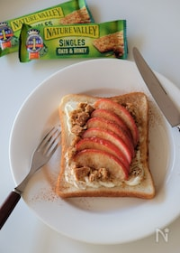 『簡単!グラノラりんごトースト』