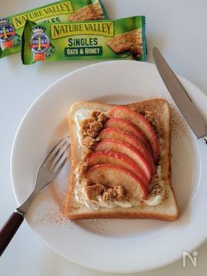 簡単!グラノラりんごトースト