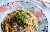 無限に食べられる*舞茸と塩昆布のスパゲッティ