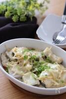 旬の食材を楽しむおかず♡たらと里芋の味噌クリームチーズ焼き