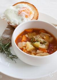 『『トマト風味の野菜カレースープ』』