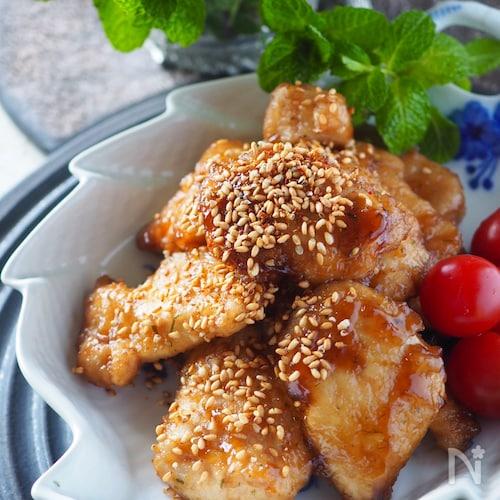 やわらか鶏むね肉の甘辛照り焼き【切り方図解付き保存版】