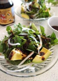『黒ゴマとバルサミコ酢のグリーンサラダ』