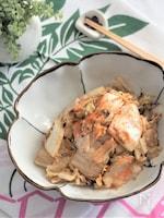 白菜漬けの生姜ごま油炒め