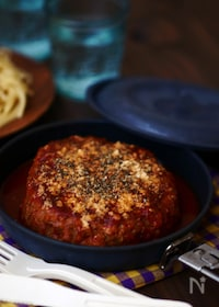 『〈ポリ袋調理〉煮込みハンバーグ』