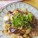 時短でほっこり。豚肉となすの梅味噌炒め煮(夏の養生ごはん)