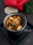 キムチとわかめのとろみスープ
