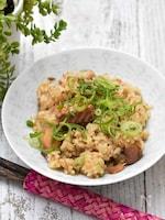 【サク飯】サバの味噌煮缶の中華風炊き込みご飯