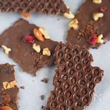 板チョコとプチプチで♪『チョコレートバーク』