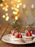 カマンベールの一口クリスマスケーキ