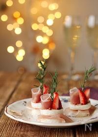 『カマンベールの一口クリスマスケーキ』