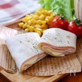 ランチや軽食に!トルティーヤで『ハムとチーズのブリトー』