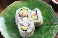 元寿司職人の「海老アボカド巻き寿司」