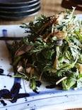 焼き鯖と春菊のさっぱりサラダ