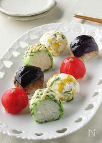 『野菜だけでも大満足!!お野菜畑の手まり寿司』