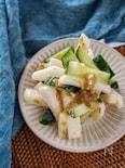 長芋とキュウリの味噌和え