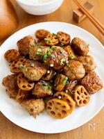 『厚切りれんこんと肉団子の甘酢炒め』ボリューム◎ご飯が進む!