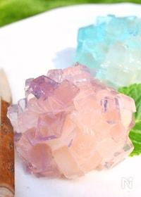 『【夏の和菓子】紫陽花(あじさい)』