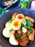 【ご飯がススム】とろっと卵と鶏むね肉のガーリックスタミナ炒め