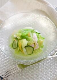 『「レタスのしんなりサラダ」冷製スープ仕立て』