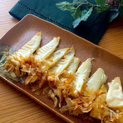トースターで簡単おつまみ♡おかかたっぷり筍のチーズ焼き