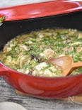 【STAUB】鶏肉ときのこの崩し豆腐煮