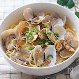 うどんスープで簡単♡絶品和風ボンゴレスープパスタ