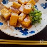 こんなに少ない材料で激旨♡厚揚げの麺つゆはちみつ照り焼き