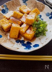 『こんなに少ない材料で激旨♡厚揚げの麺つゆはちみつ照り焼き』
