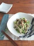レンジで簡単和総菜☆豆苗ときのこの塩昆布和え♪生姜風味