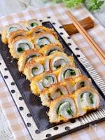 簡単おつまみ♡『大葉チーズのくるくる竹輪揚げ』副菜・お弁当◎