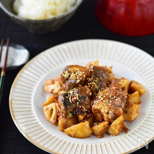 材料2つ・調味料2つ。気絶級!鯖みそ竜田の麻辣炒め。#鯖缶