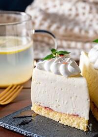 『天使の食感♡牛乳パックで作るホワイトチョコレアチーズケーキ』