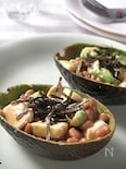 アボカドモッツァレラの味噌納豆和え