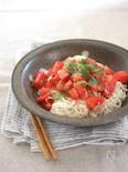 乗せるだけ!簡単すぎるトマト麺
