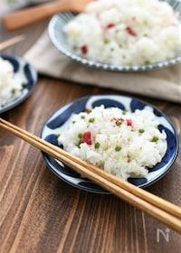 『しらすとカリカリ梅の実山椒混ぜ寿司』