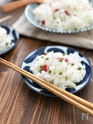 しらすとカリカリ梅の実山椒混ぜ寿司