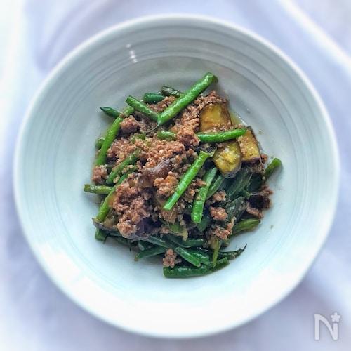 ご飯が進みます!☆夏野菜とひき肉のオイスター炒め☆