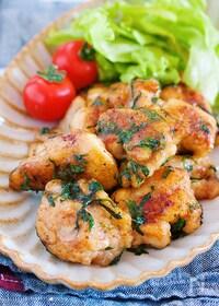『鶏の梅しそ照り焼き【#作り置き #お弁当】』