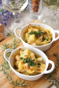 カリフラワーとエリンギのミルクみそチーズ焼き