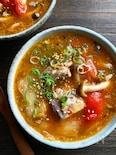 さば缶とトマトのキムチスープ【レンチン】