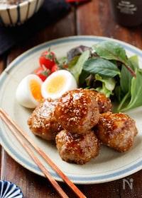 『豚こまボールの甘酢ごまだれ焼き【#お弁当#ポリ袋#包丁不要】』