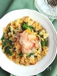 作りおきOK!菜の花と桜えびのパスタサラダ