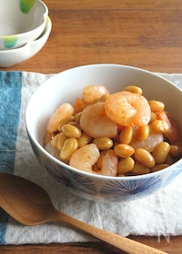 『お鍋1つで簡単和総菜◎えびと大豆の旨煮☆お弁当やおつまみに♪』