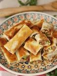 少ない油でヘルシー✿牛挽き肉と椎茸のやみつき春巻き