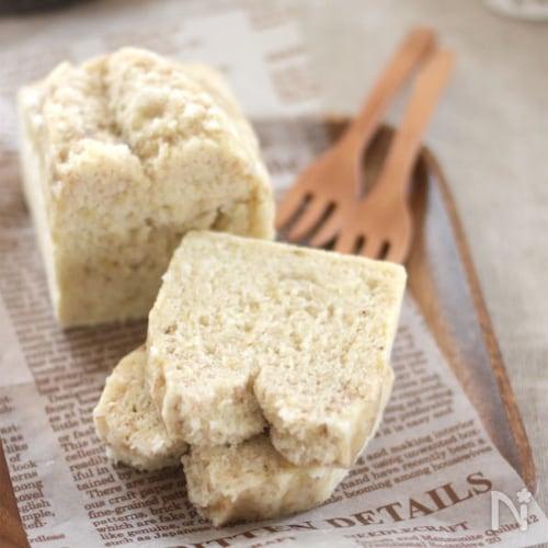 米粉の蒸しパウンドケーキ♪バナナココナッツ