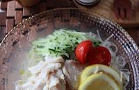 オリーブオイル香る塩鶏ソーメン