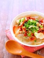 【包丁なしで作る簡単スープ】春雨ピリ辛スープの作り方レシピ