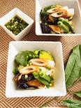 とろける茄子と素揚げ夏野菜のぶっかけ冷やしうどん