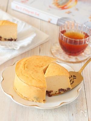 ちょっと大人なラムレーズンチーズケーキ(グルテンフリー)